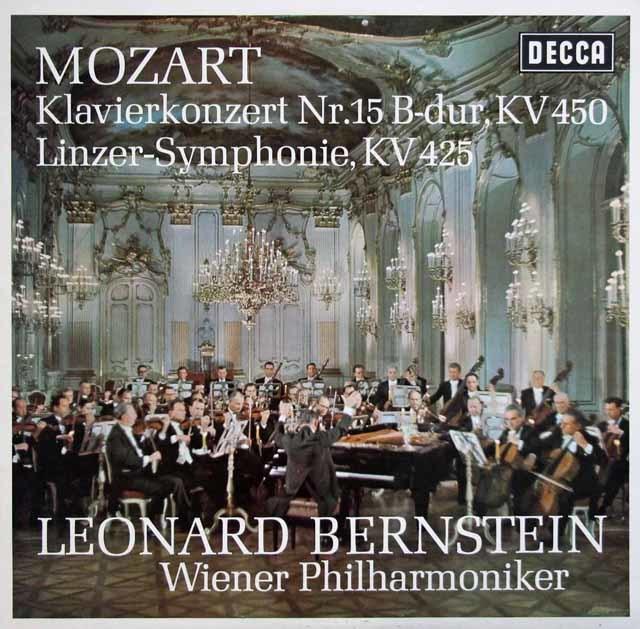 バーンスタインのモーツァルト/ピアノ協奏曲第15番ほか 独DECCA 3133 LP レコード