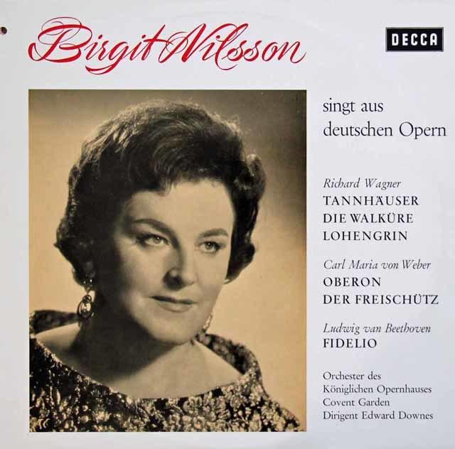 ニルソンのワーグナー、ウェーバー、ベートーヴェン/オペラ・アリア集 独DECCA 3133 LP レコード