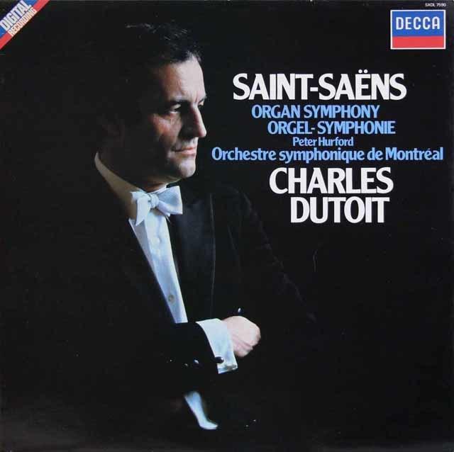 デュトワのサン=サーンス/交響曲第3番「オルガン付き」 蘭DECCA 3133 LP レコード