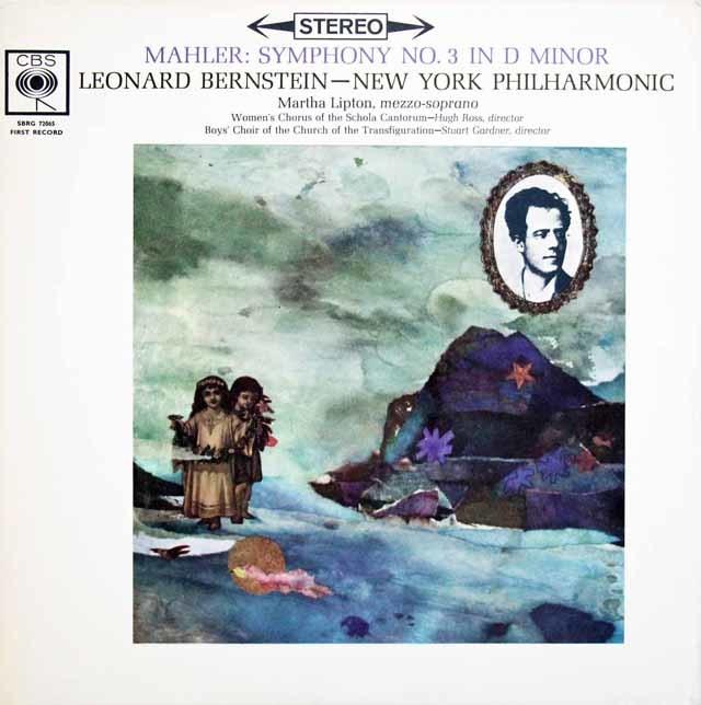 バーンスタインのマーラー/交響曲第3番 英CBS 3133 LP レコード