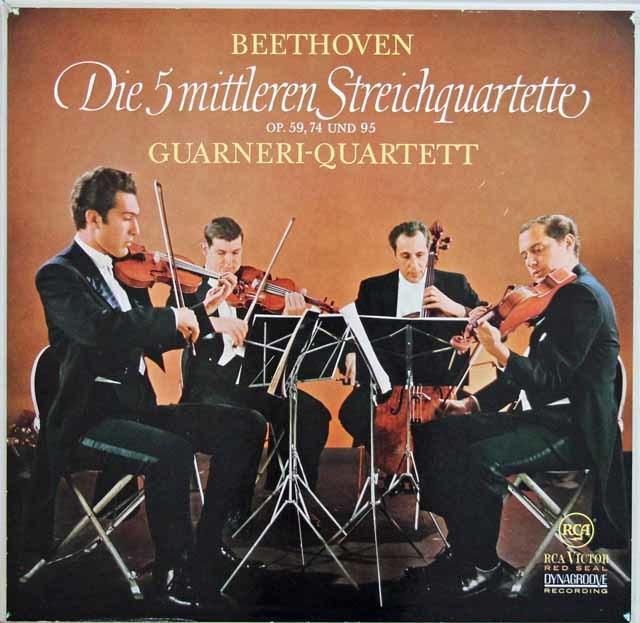 ガルネリ四重奏団のベートーヴェン/中期弦楽四重奏曲集 独RCA 3133 LP レコード