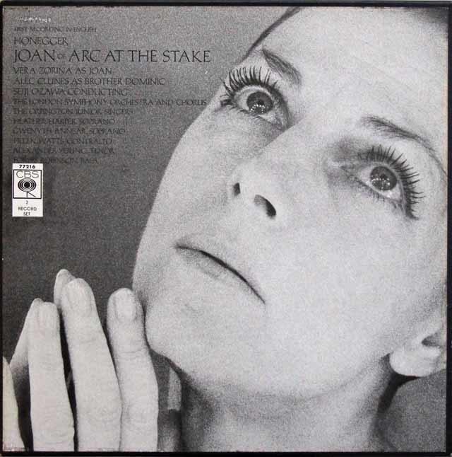 小澤のオネゲル/ 「火刑台上のジャンヌ・ダルク」 英CBS 3133 LP レコード