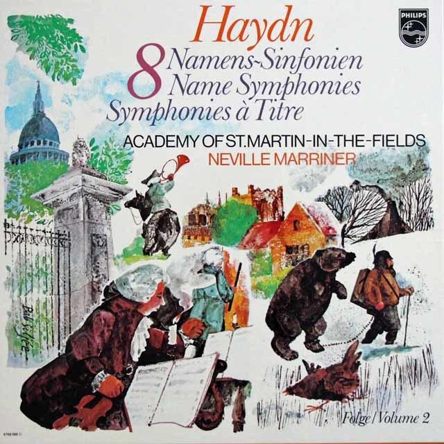 マリナーのハイドン/「8つの名前付き交響曲集(時計ほか)」 蘭PHILIPS 3133 LP レコード
