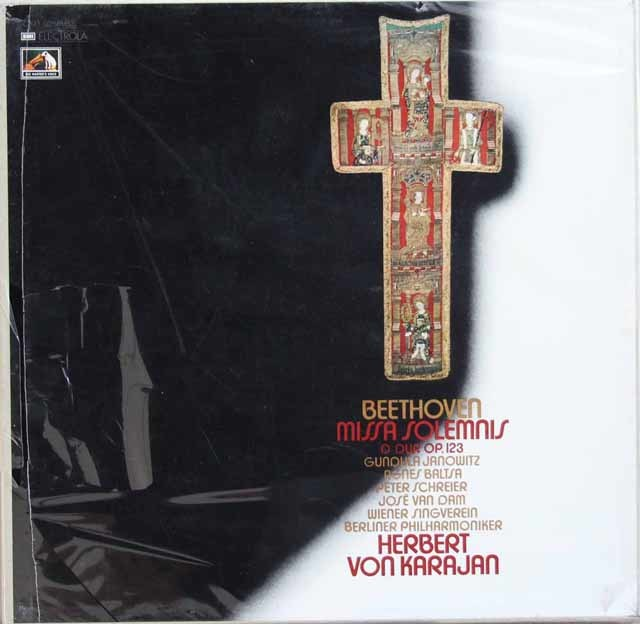 【未開封】カラヤンのベートーヴェン/ミサ・ソレムニス 独EMI 3133 LP レコード