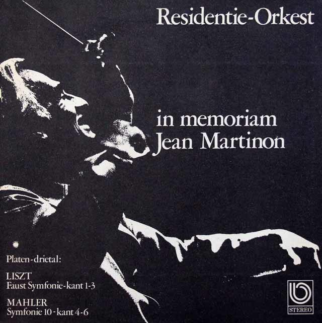 マルティノンのリスト/ファウスト交響曲ほか 蘭UVHRO 3134 LP レコード