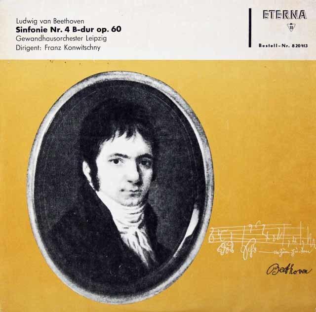 【モノラル】コンヴィチュニーのベートーヴェン/交響曲第4番 独ETERNA 3134 LPレコード