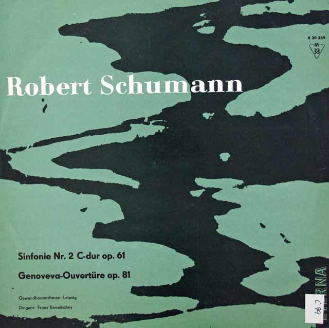 コンヴィチュニーのシューマン/交響曲第2番ほか 独ETERNA 3134 レコード