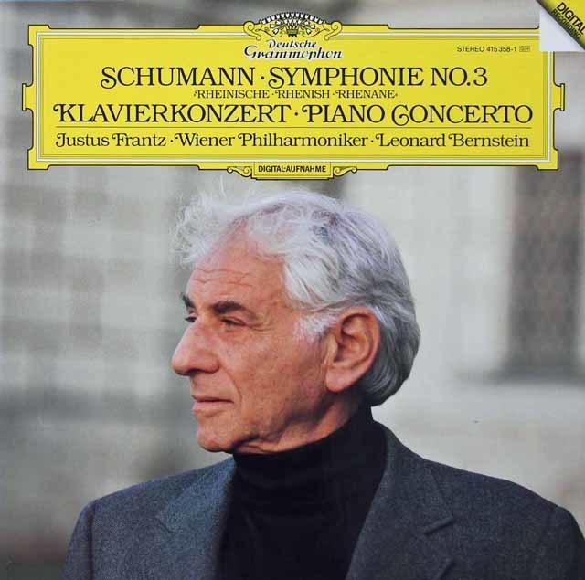 フランツ&バーンスタインのシューマン/交響曲第3番「ライン」&ピアノ協奏曲 独DGG 3134 LP レコード