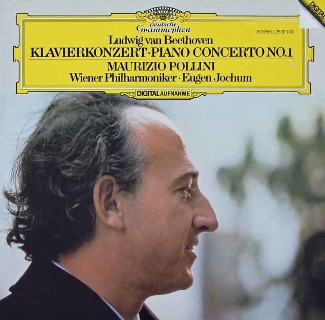ポリーニ&ヨッフムのベートーヴェン/ピアノ協奏曲第1番 独DGG 3134 LP レコード