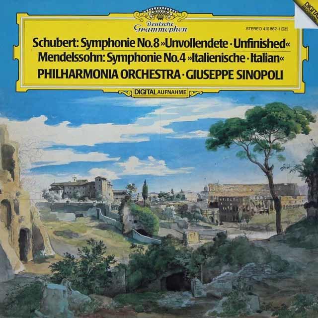 シノーポリのシューベルト/交響曲第8番「未完成」ほか 独DGG 3134 LP レコード