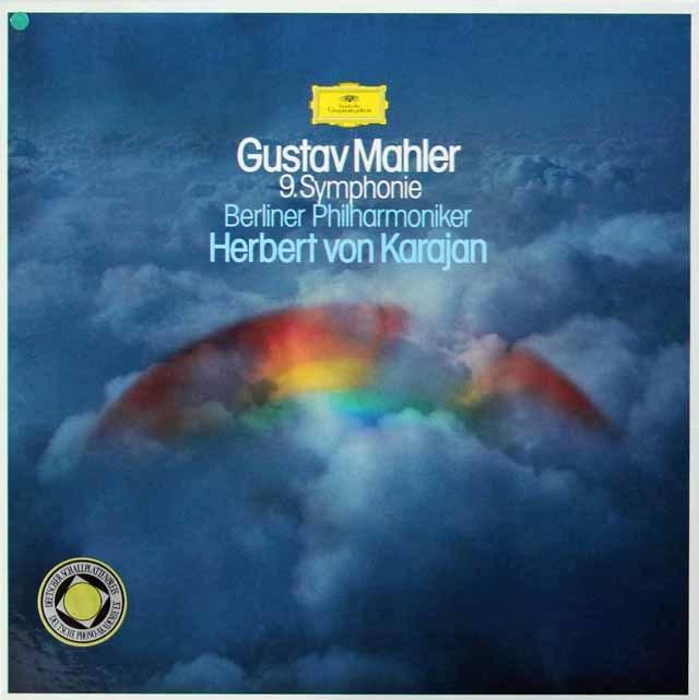 カラヤンのマーラー/交響曲第9番 独DGG 3134 LP レコード