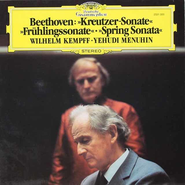 メニューイン&ケンプのベートーヴェン/「クロイツェル」&「春」 独DGG 3134 LP レコード