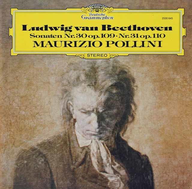 ポリーニのベートーヴェン/ピアノソナタ第30&31番 独DGG 3134 LP レコード