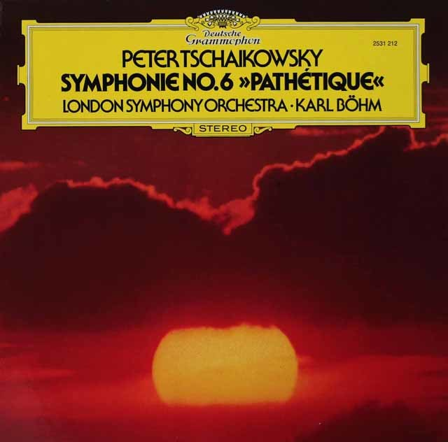ベームのチャイコフスキー/交響曲第6番「悲愴」 独DGG 3134 LP レコード