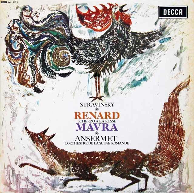 アンセルメのストラヴィンスキー/「きつね」、「マヴラ」ほか 英DECCA 3134 LPレコード