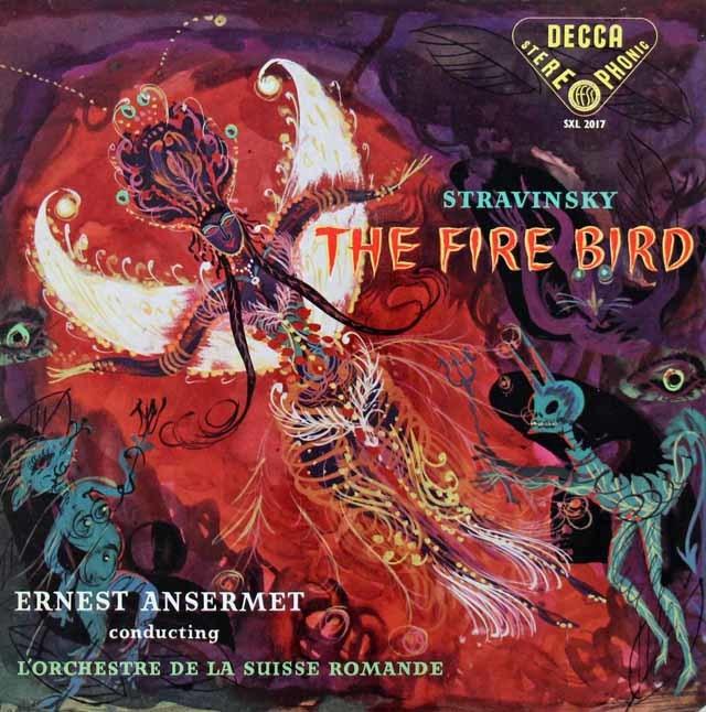 【オリジナル盤】アンセルメのストラヴィンスキー/「火の鳥」全曲 英DECCA 3134 LPレコード