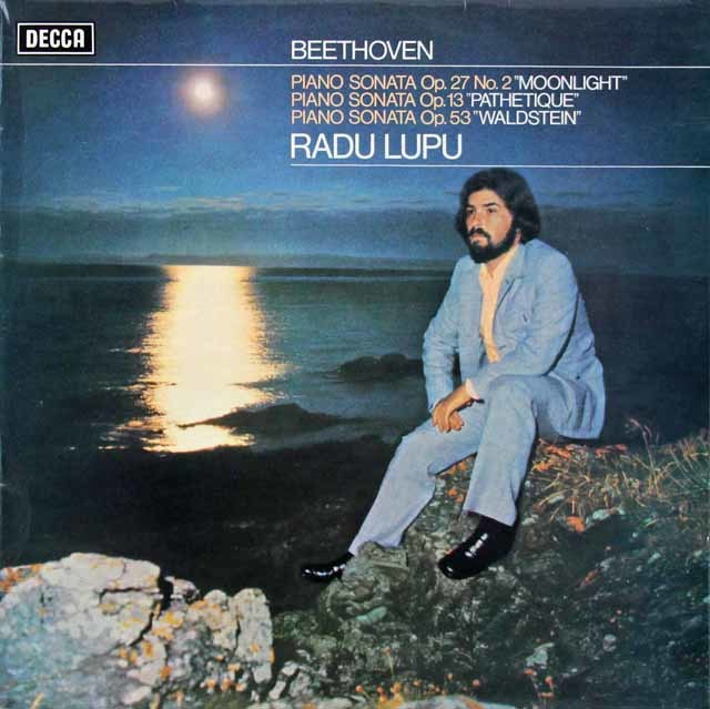 【オリジナル盤】ルプーのベートーヴェン/ピアノ・ソナタ「悲愴」、「月光」ほか 英DECCA 3134 LP レコード
