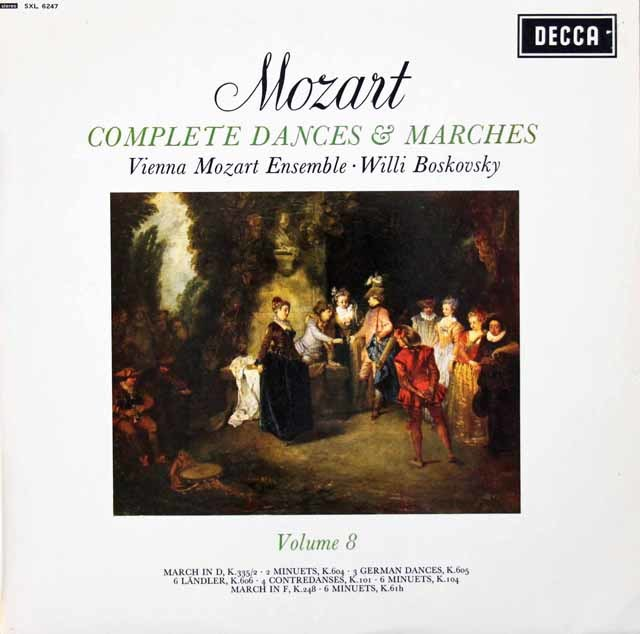 【オリジナル盤】ボスコフスキーのモーツァルト/舞曲と行進曲全集 Vol.8 英DECCA 3134 LP レコード