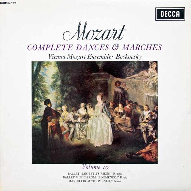 ボスコフスキーのモーツァルト/舞曲と行進曲全集 Vol.10  英DECCA  3134 LP レコード