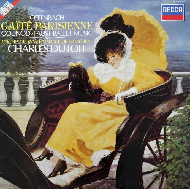 デュトワのオッフェンバック/「パリの喜び」ほか 蘭DECCA 3134 LP レコード