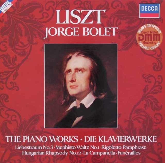 ボレットのリスト/「ハンガリー狂詩曲第12番」ほか 独DECCA 3134 LP レコード