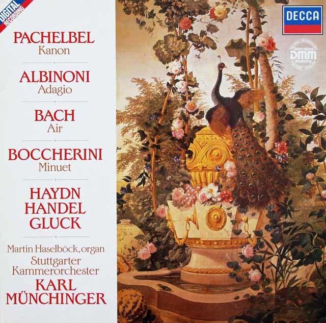 ミュンヒンガーのパッヘルベル/カノンほか 独DECCA 3134 LP レコード