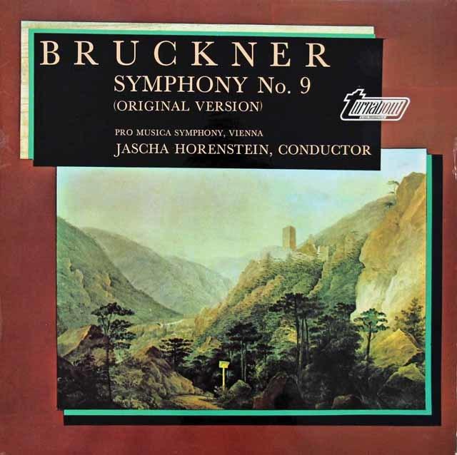 ホーレンシュタインのブルックナー/交響曲第9番(原典版) 英turnabout 3134 LP レコード