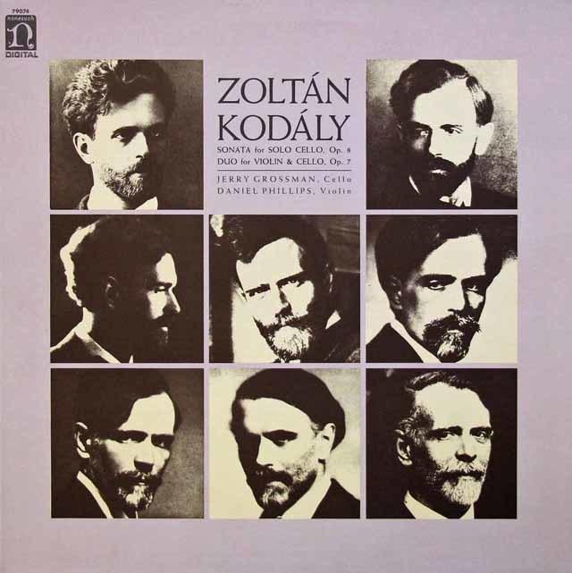 グロスマンのコダーイ/無伴奏チェロ・ソナタほか 米nonsuch 3134 LP レコード