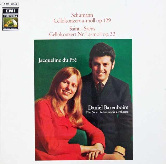 デュ・プレ&バレンボイムのシューマン/チェロ協奏曲ほか 独EMI 3134 LP レコード