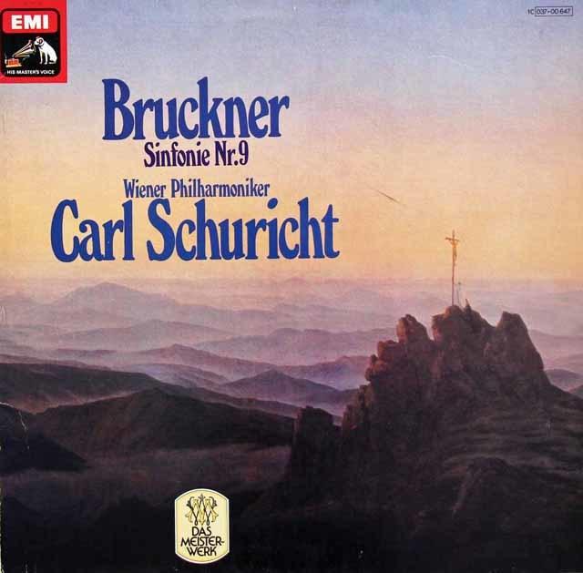 シューリヒトのブルックナー/交響曲第9番 独EMI 3134 LP レコード