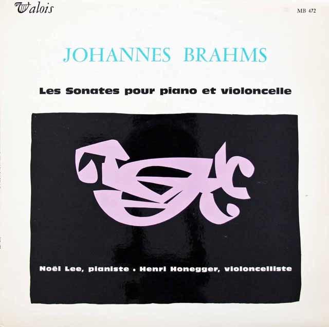 アンリ・オネゲルのブラームス/チェロソナタ第1&2番 仏VALOIS 3134 LP レコード