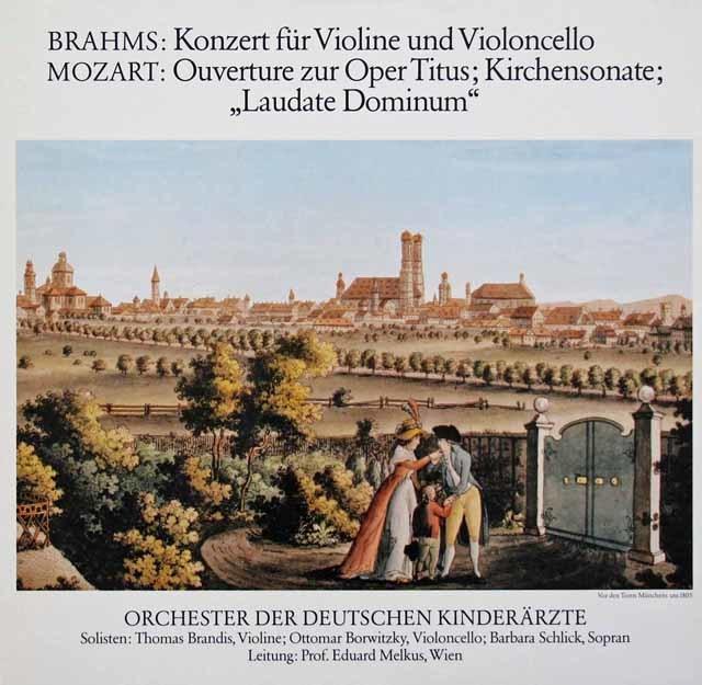 ブランディス&ボルヴィツキーのブラームス/二重協奏曲ほか 独ODK 3134 LP レコード