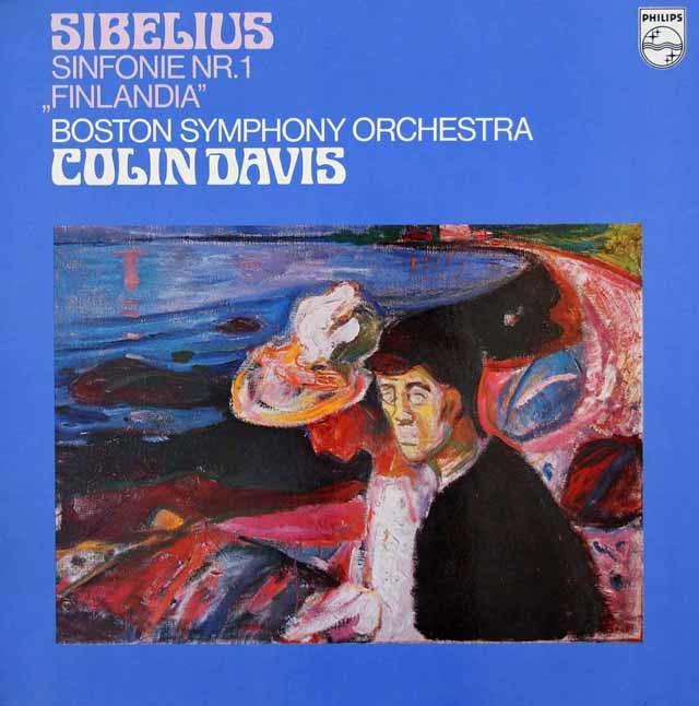 デイヴィスのシベリウス/交響曲第1番&「フィンランディア」  蘭PHILIPS 3134 LP レコード