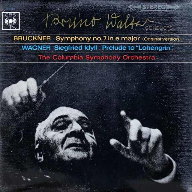 ワルターのブルックナー/交響曲第7番ほか 英CBS 3135 LP レコード