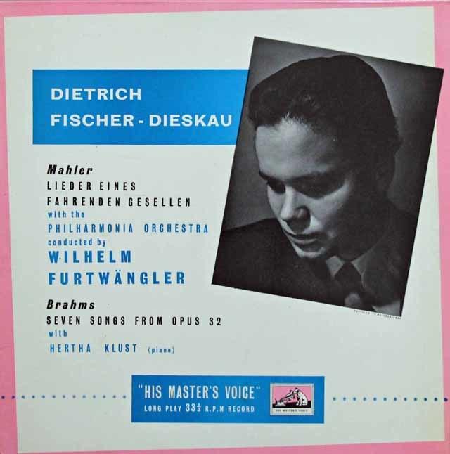 【オリジナル盤】F=ディースカウ&フルトヴェングラーのマーラー/「さすらう若人の歌」ほか 英EMI 3135 LP レコード