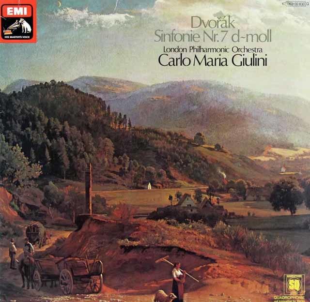 ジュリーニのドヴォルザーク/交響曲第7番  独EMI 3135 LP レコード