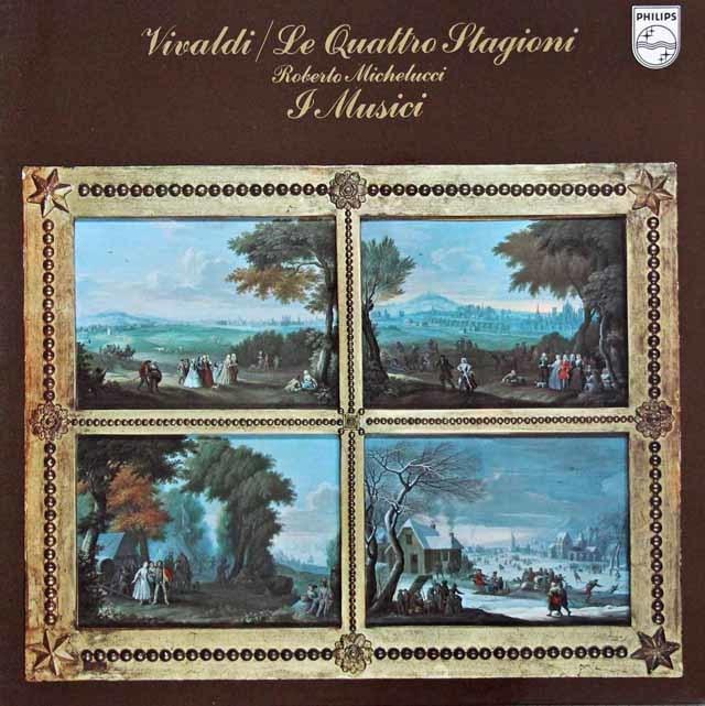 ミケルッチ&イ・ムジチ合奏団のヴィヴァルディ/「四季」 蘭PHILIPS 3135 LP レコード