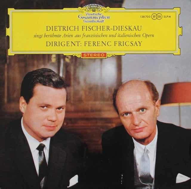 【赤ステレオ/オリジナル盤】D.F=ディースカウ&フリッチャイの「フランス&イタリア・オペラ・アリア集」 独DGG 3135