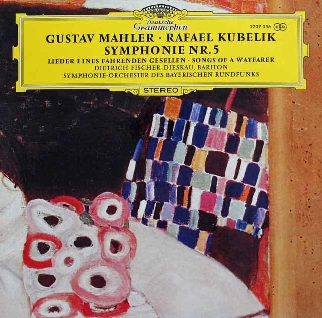 クーベリックのマーラー/交響曲第5番、「さすらう若人の歌」 独DGG 3135 LP レコード