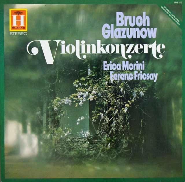 モリーニ&フリッチャイのブルッフ&グラズノフ/ヴァイオリン協奏曲 独HELIODOR 3135 LP レコード