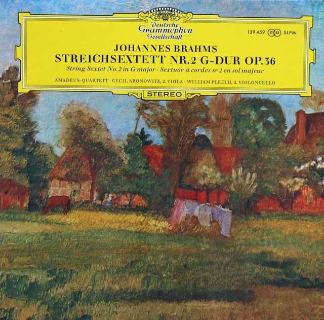 アマデウス四重奏団らのブラームス/弦楽六重奏曲第2番 独DGG 3135 LP レコード
