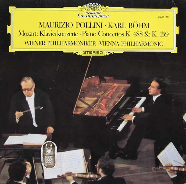 ポリーニ&ベームのモーツァルト/ピアノ協奏曲第19&23番 独DGG 3135 LP レコード