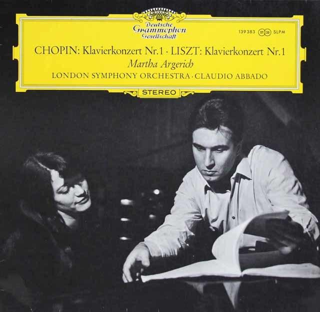 アルゲリッチ&アバドのショパン&リスト/ピアノ協奏曲 独DGG 3135 LP レコード