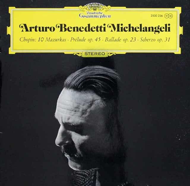 ミケランジェリのショパン/10のマズルカ、前奏曲第25番ほか 独DGG 3135 LP レコード