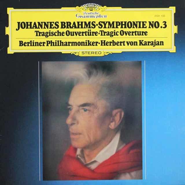 カラヤンのブラームス/交響曲第3番 独DGG 3135 LP レコード