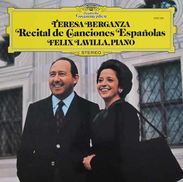 ベルガンサのスペイン歌曲集 独DGG 3135 LP レコード
