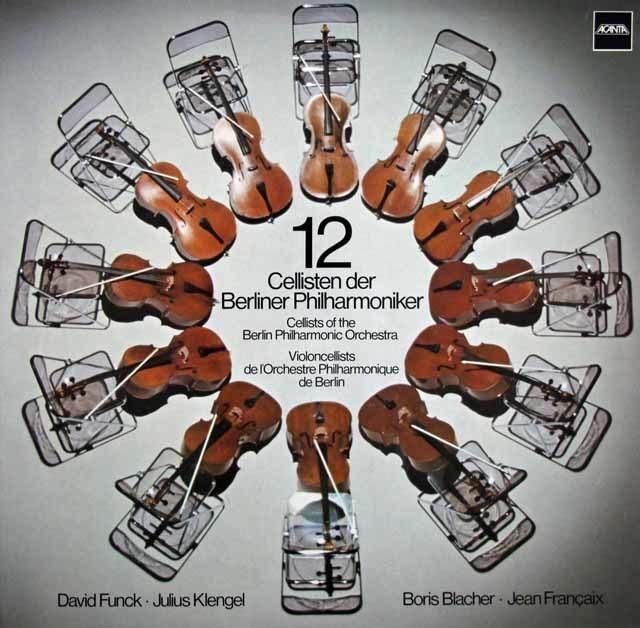 【直筆サイン入り】ベルリン・フィルの12人のチェロ奏者たち 独ACANTA 3135 LP レコード