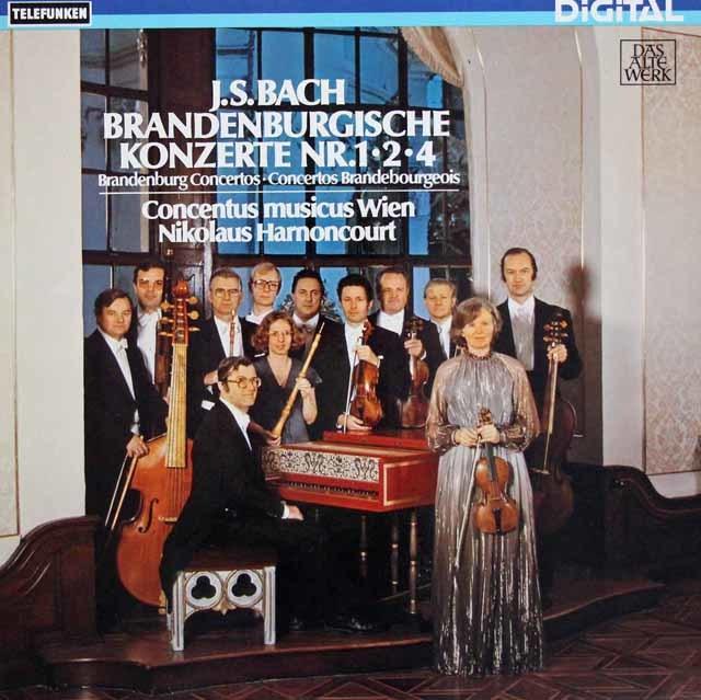 アーノンクールのバッハ/ブランデンブルク協奏曲第1、2 & 4番  独TELEFUNKEN 3135 LP レコード