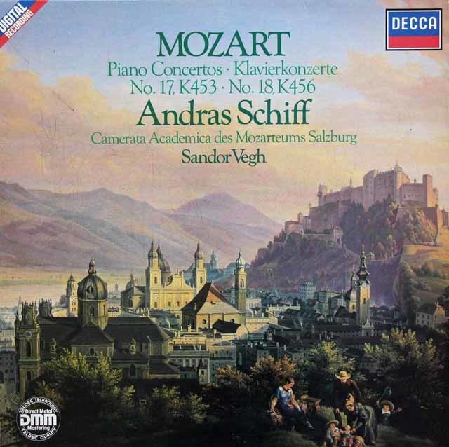 シフ&ヴェーグのモーツァルト/ピアノ協奏曲第17&18番 独DECCA 3135 LP レコード