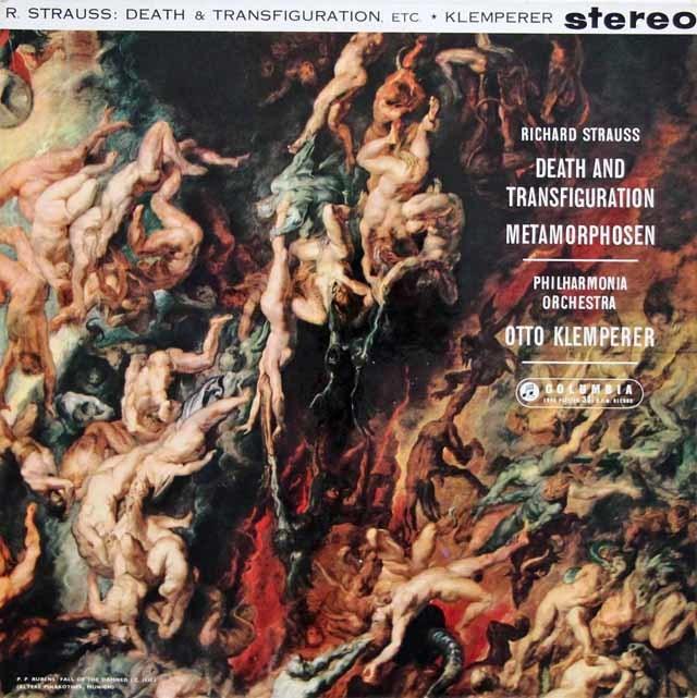 【オリジナル盤】クレンペラーのR.シュトラウス/「死と変容」&「メタモルフォーゼン」   英Columbia 3135 LP レコード